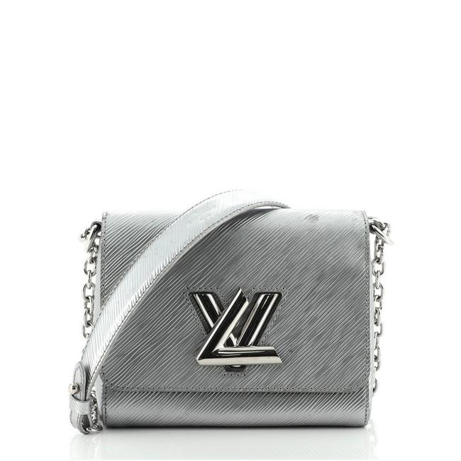 Item - Twist Handbag Epi Pm Silver Leather Cross Body Bag