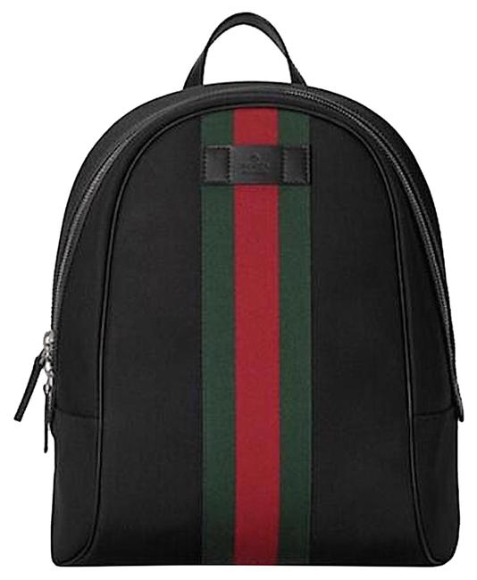 Item - New Web Black Tech Canvas Backpack
