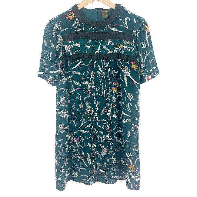 Item - Green Vineet Bahl Ines Floral Women Small Short Casual Dress Size 4 (S)