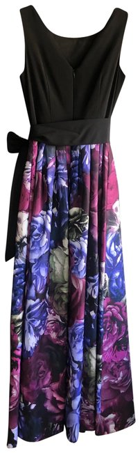Item - Black and Purple Ball Gown Long Formal Dress Size 2 (XS)