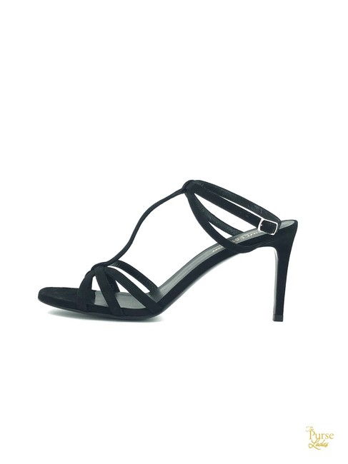 Item - Black Suede Strappy #33505 Sandals Size EU 40 (Approx. US 10) Regular (M, B)