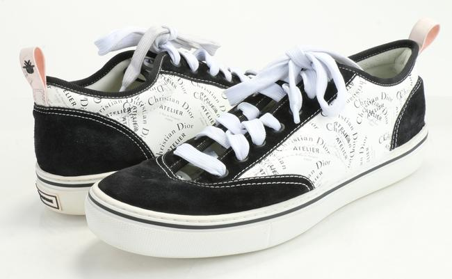 """Item - Black/White """"B11"""" Leather Sneakers Shoes"""