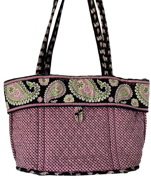 Item - Elephant & Contrasting Pink Pattern Multicolor Quilt Tote