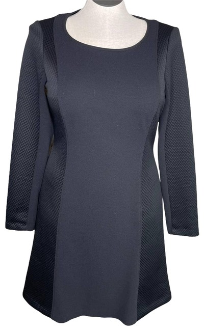 Item - Black Long Sleeve Quilted Work/Office Dress Size 12 (L)
