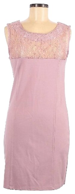Item - Pink Lace Top Casual Cocktail Dress Size 8 (M)