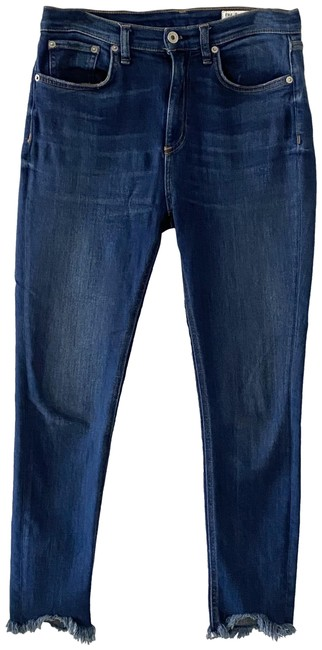 Item - Blue Medium Wash High Rise Ankle Skinny Capri/Cropped Jeans Size 28 (4, S)