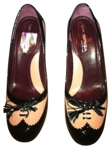 Via Spiga Spectator Black/pink Pumps