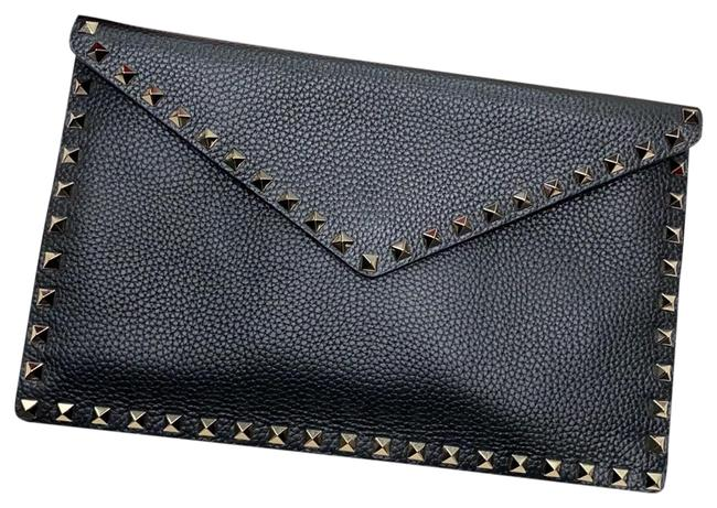 Item - Black Calfskin Leather Clutch