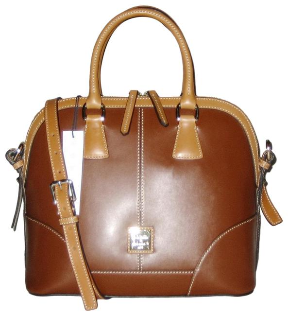 Item - Wexford Domed Brown Natural Leather Satchel