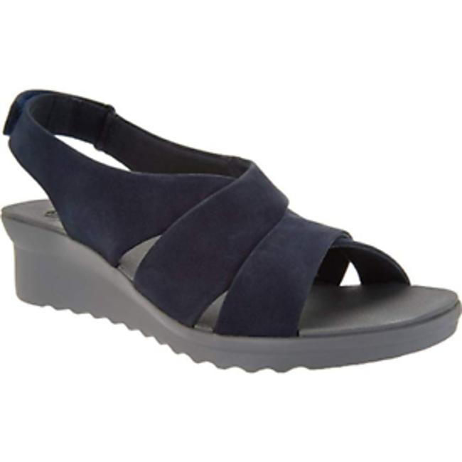 Item - Blue Cloudsteppers Caddell Navy Suede 7w Sandals Size US 7 Wide (C, D)