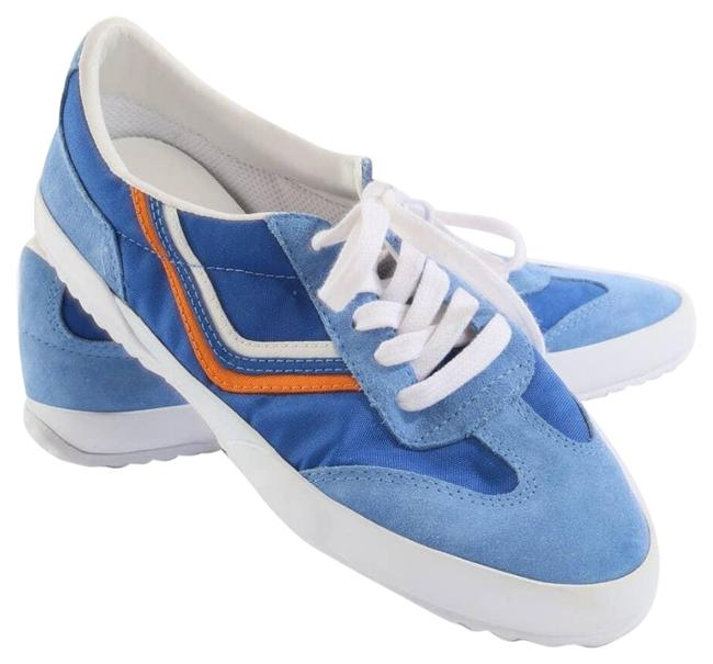 Item - Blue Womens Sport Canvas Suede Lace Up Sneakers Size US 9 Regular (M, B)