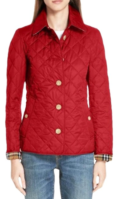 Item - Military Red Frankby Quilted Medium Jacket Size 8 (M)