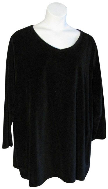 Item - Black 4x Purejill Velour Shirt Tunic Size 28 (Plus 3x)