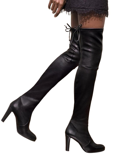 Item - Black Leather Over The Knee Highland Boots/Booties Size US 5 Regular (M, B)