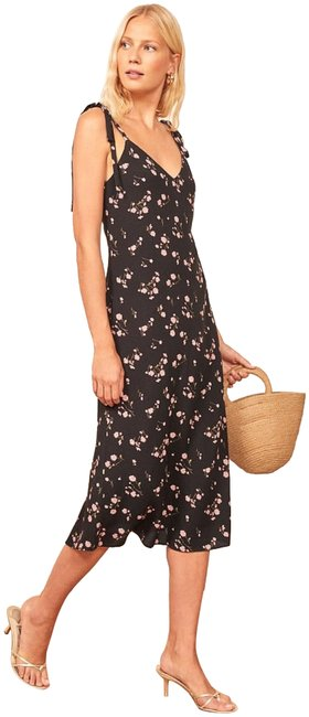 Item - Black Jade Floral Open Mid-length Night Out Dress Size 12 (L)