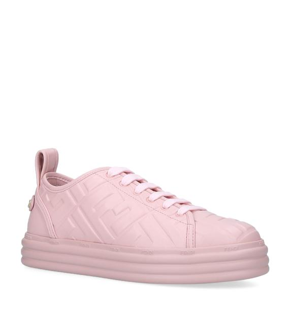 Item - Pale Pink Embossed Leather Sneakers 35 Platforms Size EU 37 (Approx. US 7) Regular (M, B)