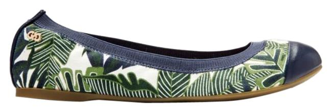 Item - Green Eldridge Ballet Palm Print Canvas Flats Size US 11 Regular (M, B)