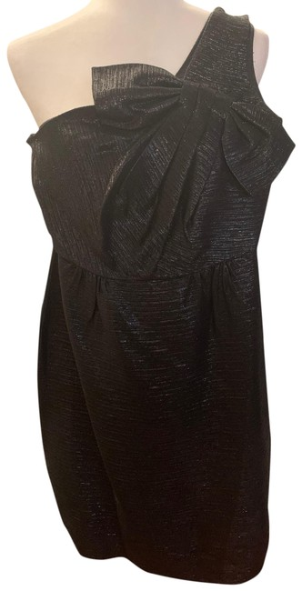 Item - Black with Silver Sparkle Not Sure Short Cocktail Dress Size 2 (XS)