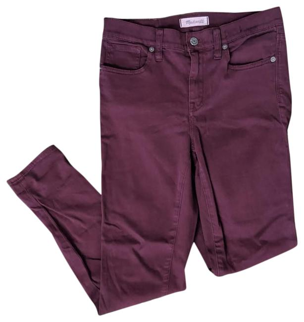 Item - Burgundy High Waisted Skinny Jeans Size 26 (2, XS)