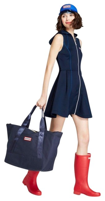 Item - Blue Scuba For Target Zip Front Hooded Sleeveless Navy S Casual Maxi Dress Size 4 (S)