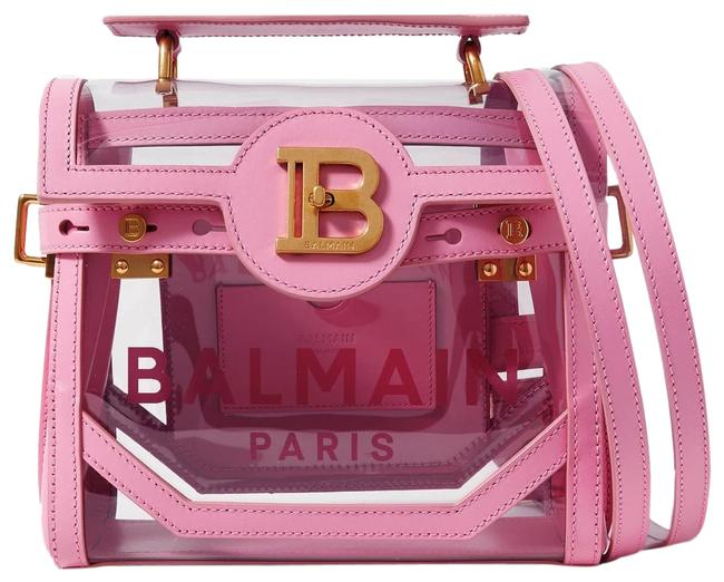 Item - New B-buzz 23 Leather and Printed Pvc Shoulder Pink Cross Body Bag