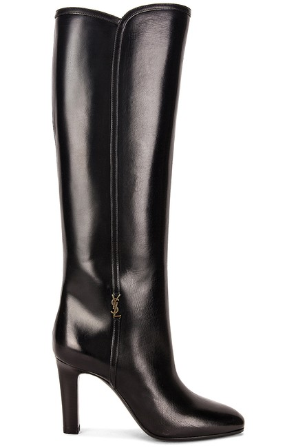 Item - Black New Blu Embellished Leather Knee Boots/Booties Size EU 38 (Approx. US 8) Regular (M, B)