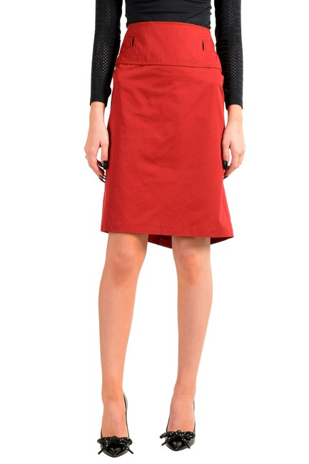 Item - Bright Red Women's Pencil Skirt Size 16 (XL, Plus 0x)
