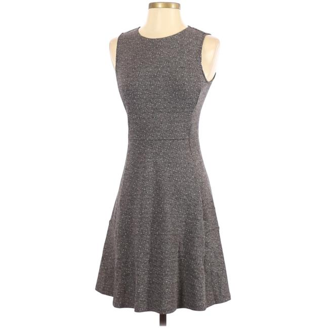 Item - Grey Sleeveless Seamed Speckle Knit Fit-&-flare Mid-length Work/Office Dress Size 4 (S)