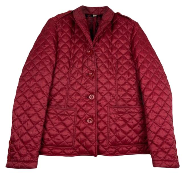 Item - Red Quilted Puffer Coat Size 10 (M)