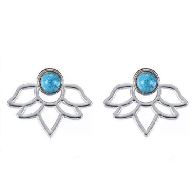 Item - Silver & Blue Jacket Earrings