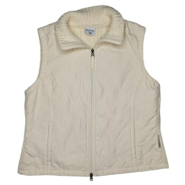 Item - Beige Quilted Sweater Back Sleeveless Vest Size 12 (L)