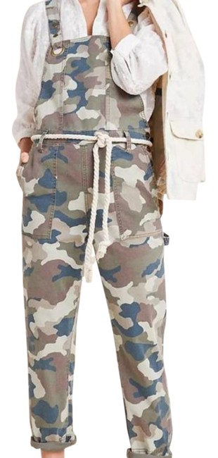 Item - Green Tan Carter Utility Overalls In Camo Pants Size 4 (S, 27)