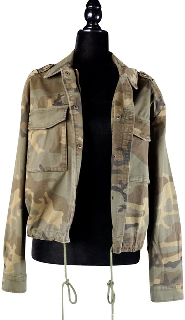 Item - Green XS Sanctuary Camo Utility New Jacket Size 2 (XS)
