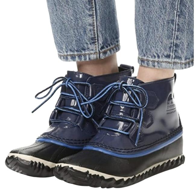 Item - Blue Black Out N About Nocturnal Waterproof Rain Duck Ankle Boots/Booties Size US 10 Regular (M, B)