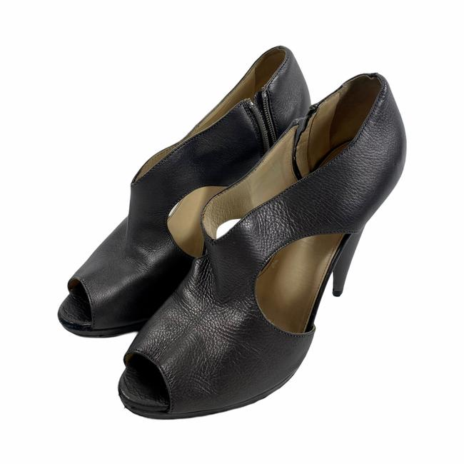 Item - Gray Pewter Leather Cut Out Cone Pumps Size EU 39.5 (Approx. US 9.5) Regular (M, B)