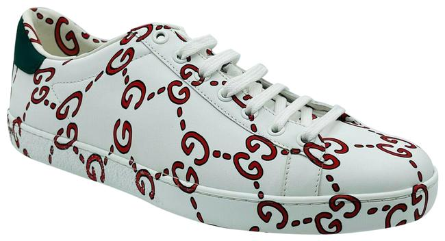 Item - White/Red Ghost Women's Leather Gg Logo 41g/Us 498216 9085 Sneakers Size US 11 Regular (M, B)