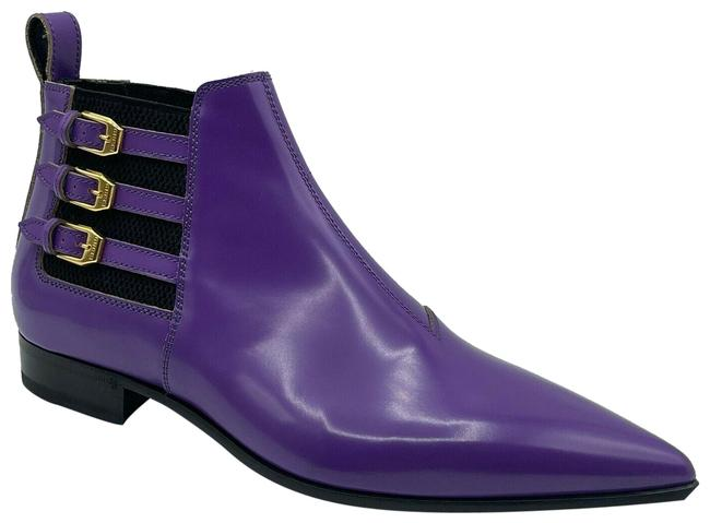 Item - Purple Leather Ankle with Gold Buckles Eu 40/Us 603672 Boots/Booties Size US 10 Regular (M, B)