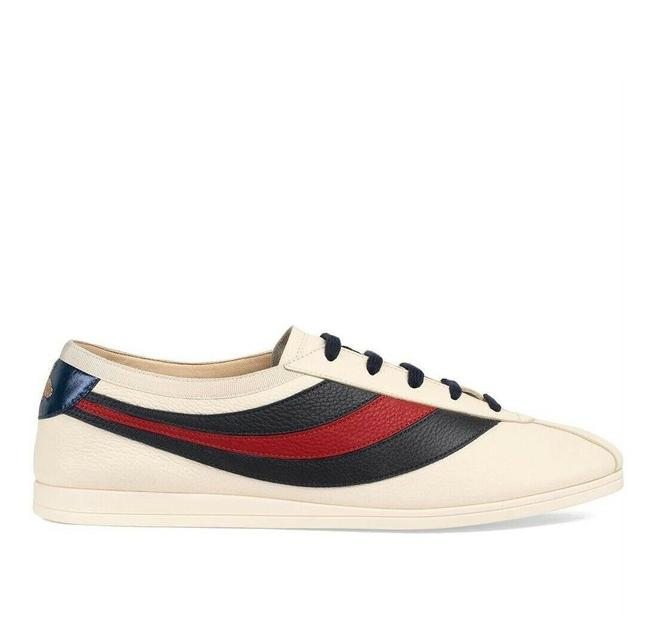 Gucci White Mens Leather Red Blue Web Sneaker Eu 15g/Us 15.5 483266 9068 Shoes Gucci White Mens Leather Red Blue Web Sneaker Eu 15g/Us 15.5 483266 9068 Shoes Image 1
