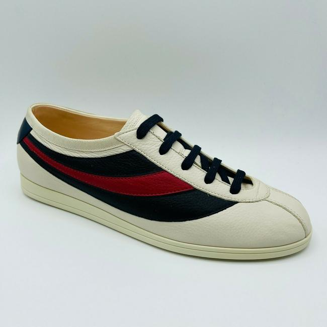 Gucci White Mens Leather Red Blue Web Sneaker Eu 15g/Us 15.5 483266 9068 Shoes Gucci White Mens Leather Red Blue Web Sneaker Eu 15g/Us 15.5 483266 9068 Shoes Image 2
