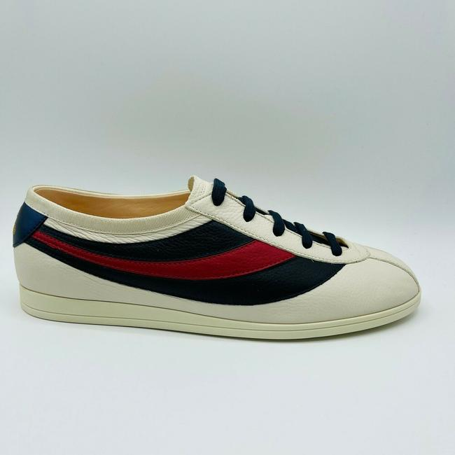 Gucci White Mens Leather Red Blue Web Sneaker Eu 15g/Us 15.5 483266 9068 Shoes Gucci White Mens Leather Red Blue Web Sneaker Eu 15g/Us 15.5 483266 9068 Shoes Image 3