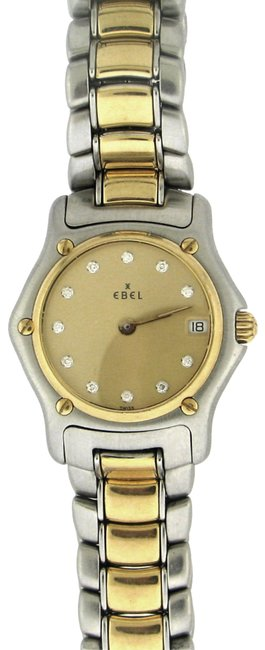 Item - Gold & Silver Lady's Stainless and 18k Diamond Accents Watch