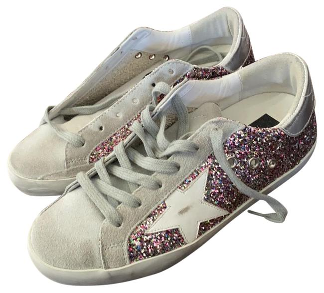 Item - Grey Suede with Multicolor Glitter/Silver Superstar Glitter/Silver Sneakers Size EU 36 (Approx. US 6) Regular (M, B)