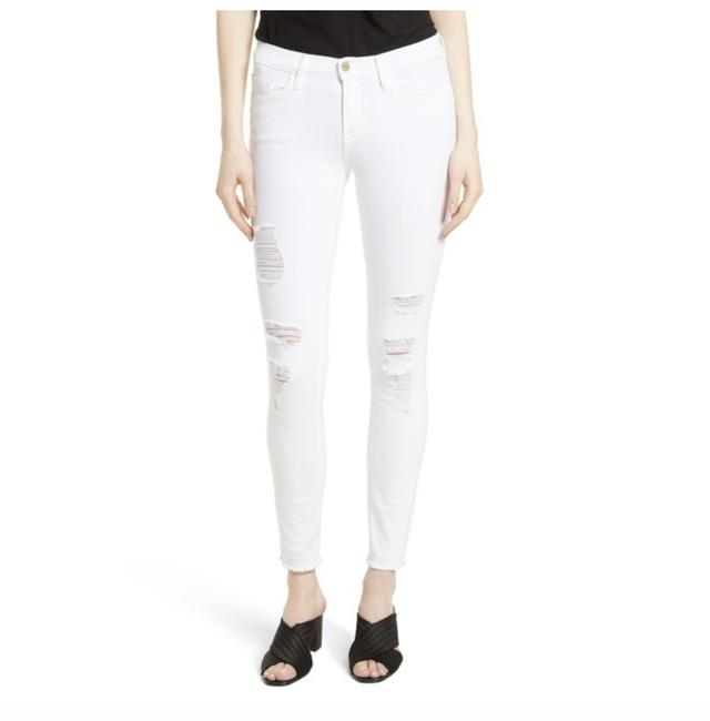 Item - White Light Wash 'le De Jeanne' Ripped Lsjrre403 Skinny Jeans Size 30 (6, M)