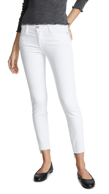 Item - White 'le De Jeanne ' Raw Stagger Mid Skinny Jeans Size 27 (4, S)