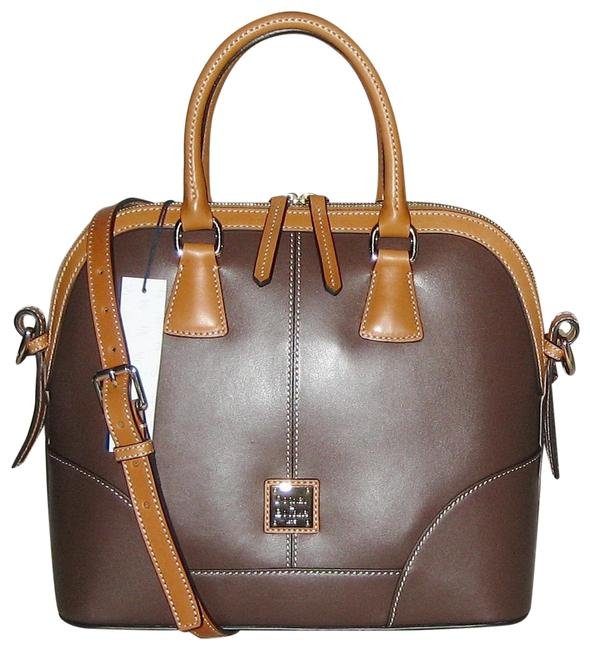 Item - Wexford Domed Brown Leather Satchel