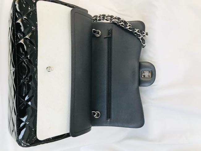 Chanel Classic Double Flap Quilted Jumbo Black Patent Leather Shoulder Bag Chanel Classic Double Flap Quilted Jumbo Black Patent Leather Shoulder Bag Image 6