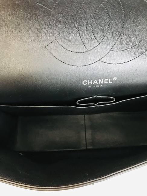 Chanel Classic Double Flap Quilted Jumbo Black Patent Leather Shoulder Bag Chanel Classic Double Flap Quilted Jumbo Black Patent Leather Shoulder Bag Image 10