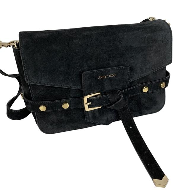 Item - New Lexie Black Suede Leather Cross Body Bag