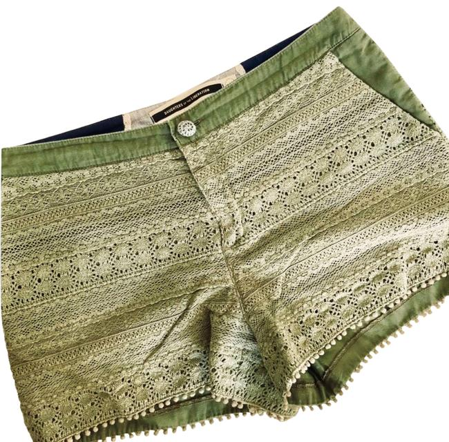 Item - Green Daughters Liberation Olive Crochet Lace Shorts Size 10 (M, 31)