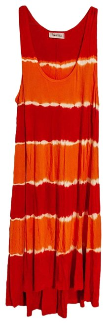Item - Red & Orange Unknown Style Long Casual Maxi Dress Size 8 (M)
